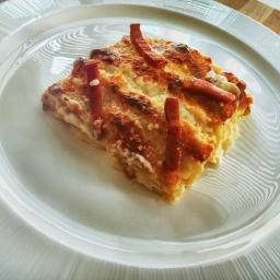 Lasagna al forno asparagi speck e taleggio !