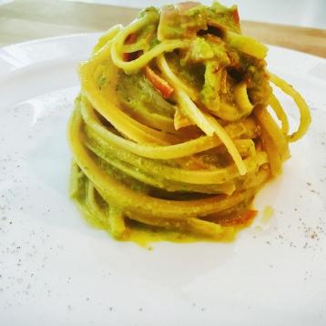 Carbonara Speck e asparagi