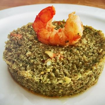 Quinoa Pesto e Gamberi allo zenzero
