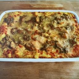 Lasagne zucca e funghi misti